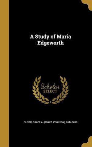 Bog, hardback A Study of Maria Edgeworth