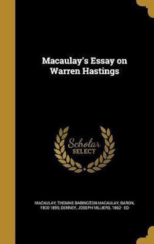Bog, hardback Macaulay's Essay on Warren Hastings