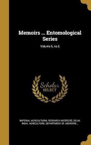 Bog, hardback Memoirs ... Entomological Series; Volume 5, No.5