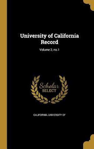 Bog, hardback University of California Record; Volume 2, No.1