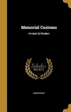 Bog, hardback Memorial Customs