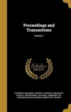 Bog, hardback Proceedings and Transactions; Volume 1