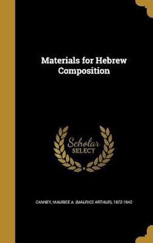 Bog, hardback Materials for Hebrew Composition
