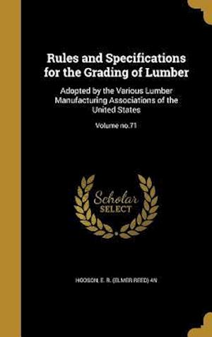 Bog, hardback Rules and Specifications for the Grading of Lumber