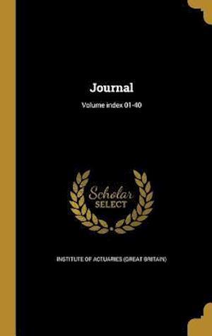 Bog, hardback Journal; Volume Index 01-40