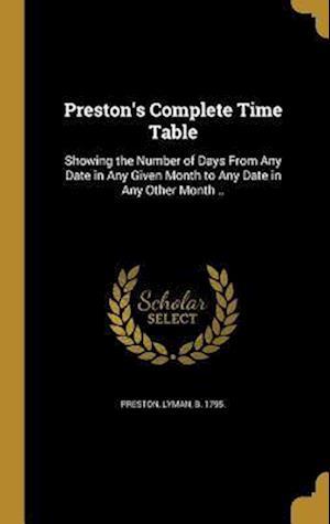 Bog, hardback Preston's Complete Time Table