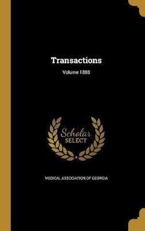 Bog, hardback Transactions; Volume 1888