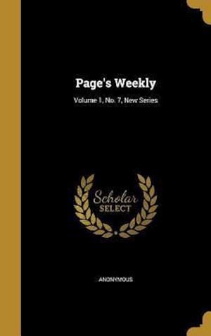 Bog, hardback Page's Weekly; Volume 1, No. 7, New Series