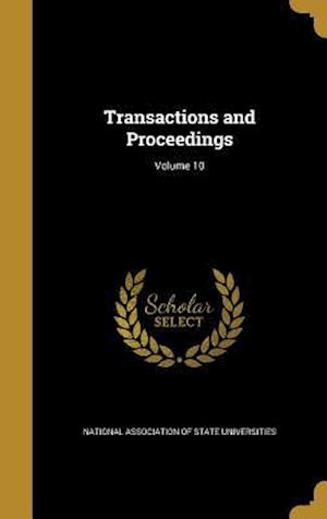 Bog, hardback Transactions and Proceedings; Volume 10