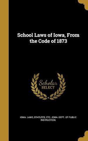 Bog, hardback School Laws of Iowa, from the Code of 1873