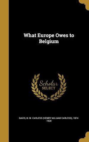 Bog, hardback What Europe Owes to Belgium