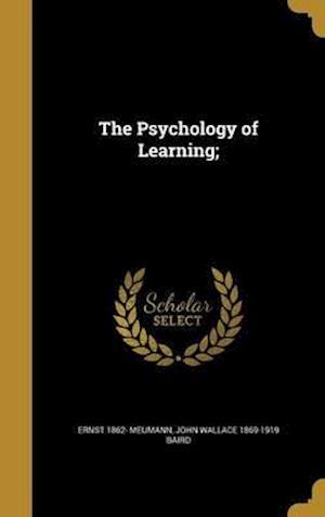 Bog, hardback The Psychology of Learning; af John Wallace 1869-1919 Baird, Ernst 1862- Meumann
