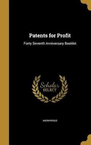 Bog, hardback Patents for Profit