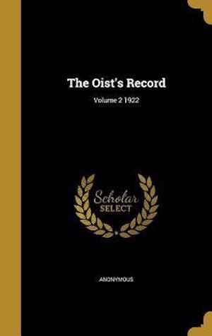 Bog, hardback The Oist's Record; Volume 2 1922