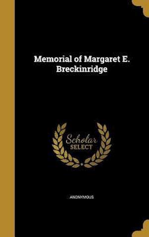 Bog, hardback Memorial of Margaret E. Breckinridge