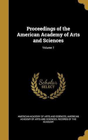 Bog, hardback Proceedings of the American Academy of Arts and Sciences; Volume 1