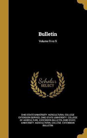 Bog, hardback Bulletin; Volume 9 No 9