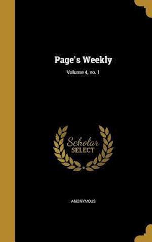 Bog, hardback Page's Weekly; Volume 4, No. 1