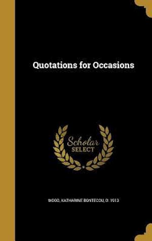 Bog, hardback Quotations for Occasions