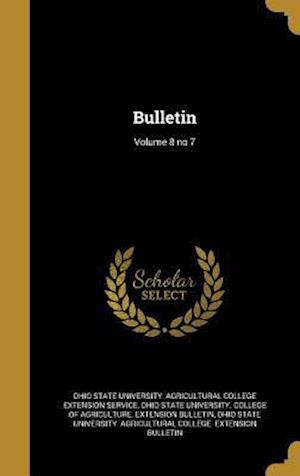 Bog, hardback Bulletin; Volume 8 No 7