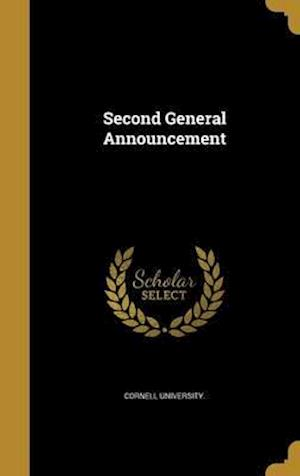 Bog, hardback Second General Announcement