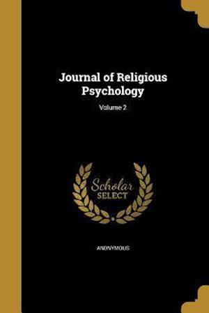 Bog, paperback Journal of Religious Psychology; Volume 2
