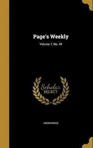 Bog, hardback Page's Weekly; Volume 7, No. 49