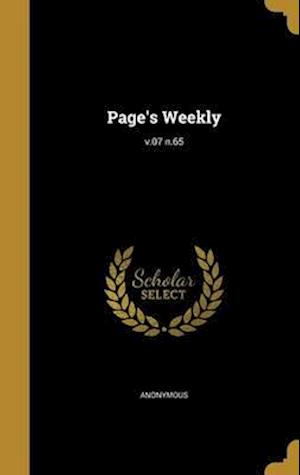Bog, hardback Page's Weekly; V.07 N.65