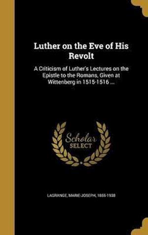 Bog, hardback Luther on the Eve of His Revolt