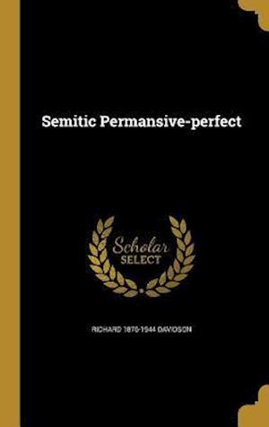 Bog, hardback Semitic Permansive-Perfect af Richard 1876-1944 Davidson