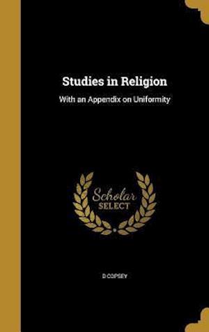Bog, hardback Studies in Religion af D. Copsey
