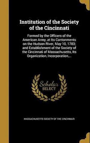 Bog, hardback Institution of the Society of the Cincinnati