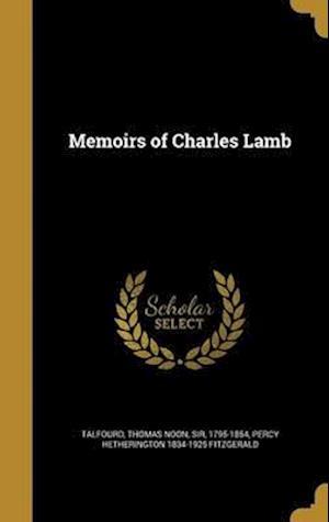 Bog, hardback Memoirs of Charles Lamb af Percy Hetherington 1834-1925 Fitzgerald