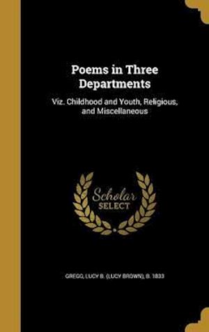 Bog, hardback Poems in Three Departments