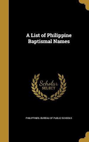 Bog, hardback A List of Philippine Baptismal Names