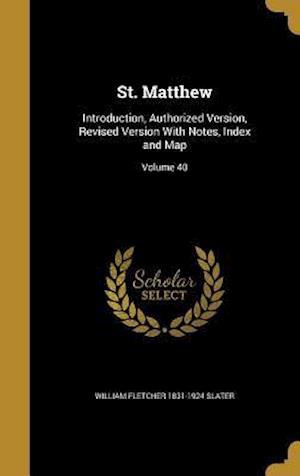 Bog, hardback St. Matthew af Willi