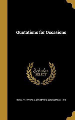 Bog, hardback Quotations for Occasions