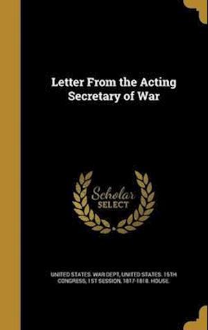 Bog, hardback Letter from the Acting Secretary of War