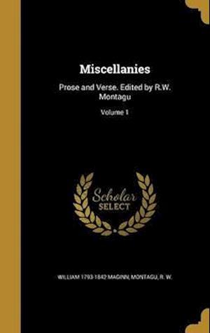 Bog, hardback Miscellanies af William 1793-1842 Maginn
