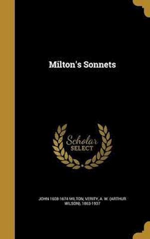 Bog, hardback Milton's Sonnets af John 1608-1674 Milton