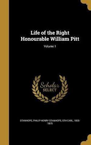 Bog, hardback Life of the Right Honourable William Pitt; Volume 1