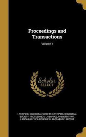Bog, hardback Proceedings and Transactions; Volume 1