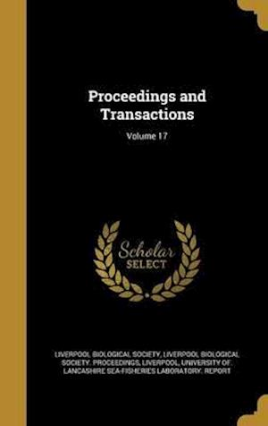 Bog, hardback Proceedings and Transactions; Volume 17