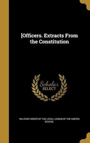 Bog, hardback [Officers. Extracts from the Constitution