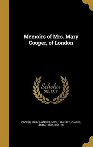 Bog, hardback Memoirs of Mrs. Mary Cooper, of London