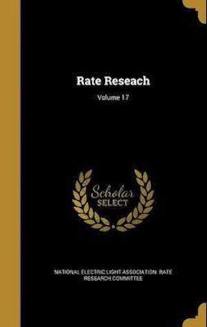 Bog, hardback Rate Reseach; Volume 17