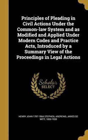 Bog, hardback Principles of Pleading in Civil Actions Under the Common-Law System and as Modified and Applied Under Modern Codes and Practice Acts, Introduced by a af Henry John 1787-1864 Stephen