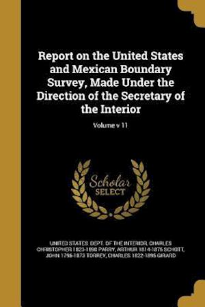 Bog, paperback Report on the United States and Mexican Boundary Survey, Made Under the Direction of the Secretary of the Interior; Volume V 11 af Spencer Fullerton 1823-1887 Baird