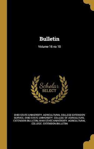 Bog, hardback Bulletin; Volume 16 No 10