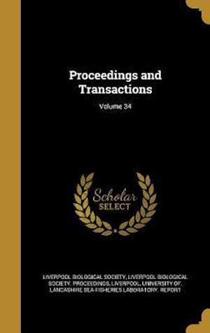 Bog, hardback Proceedings and Transactions; Volume 34